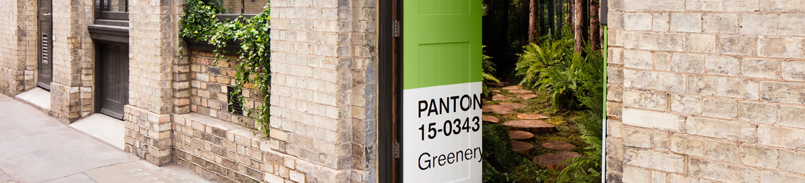 """The First-Ever PANTONE Color of the Year Experience:  Pantone """"Outside In"""" House Springs to Life"""